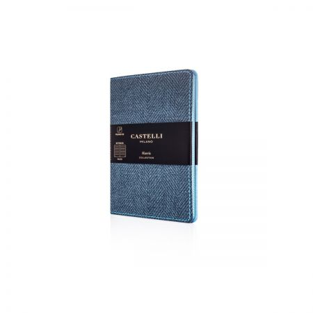 Harris Pocket Ruled Flexible Notebook - Slate Blue