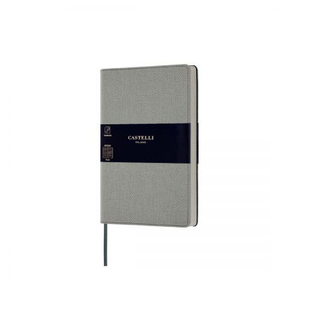 NEW Harris Pocket Ruled Notebook - Oyster Grey