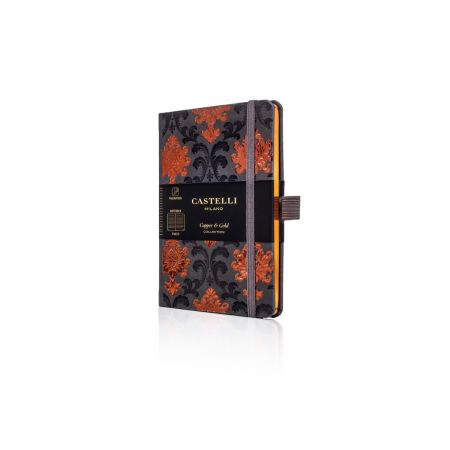 Baroque Pocket Ivory Notebook - Copper
