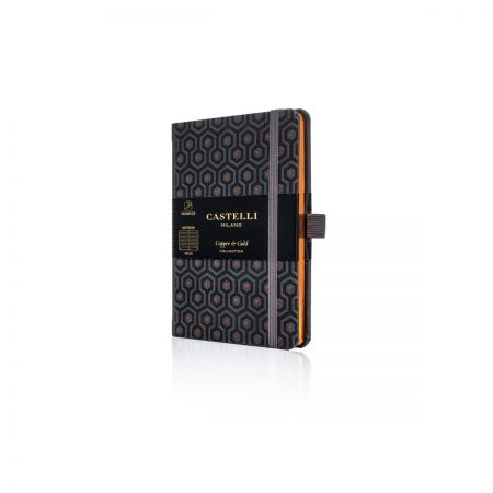 Honeycomb Pocket Ivory Notebook - Copper