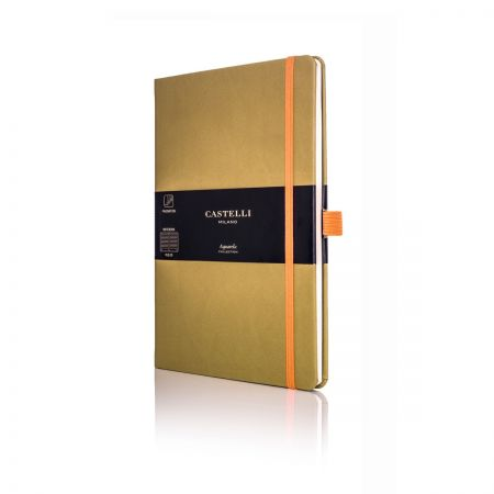 Aquarela Medium Ruled Notebook - Olive