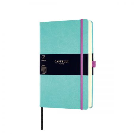 NEW Aquarela Medium Ruled Notebook - Jade Green