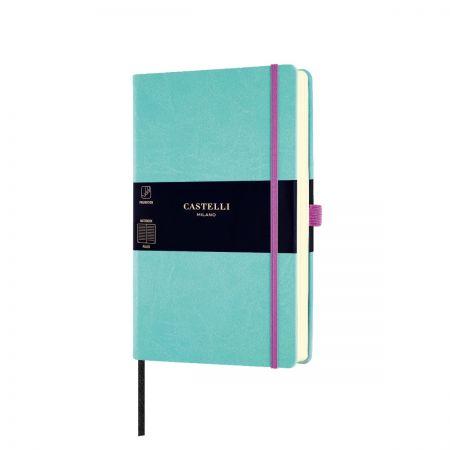 NEW Aquarela Medium Ruled Notebook - Jade Green