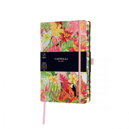 NEW Eden Medium Ruled Notebook - Flamingo