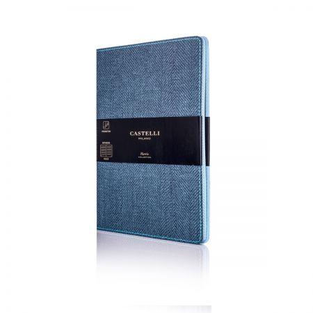 Harris Medium Ruled Flexible Notebook - Slate Blue