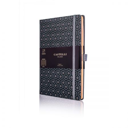 Honeycomb Copper Medium Ruled Notebook