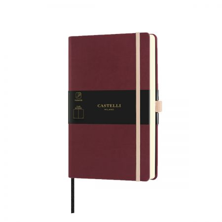NEW Aquarela Medium Plain Notebook - Black Cherry