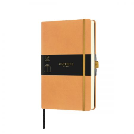 NEW Aquarela Medium Plain Notebook - Clementine