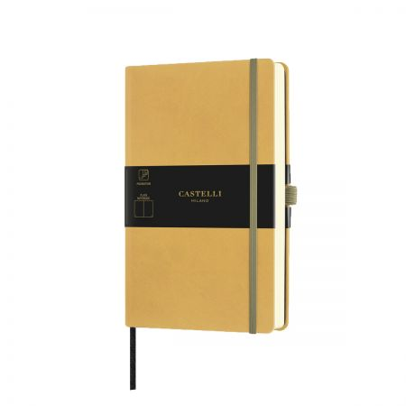 NEW Aquarela Medium Plain Notebook - Mustard
