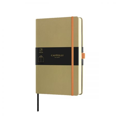 NEW Aquarela Medium Plain Notebook - Olive