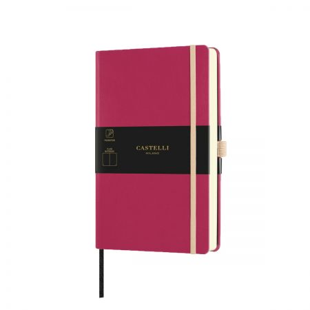 NEW Aquarela Medium Plain Notebook - Amaranth