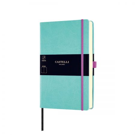 NEW Aquarela Medium Plain Notebook - Jade Green