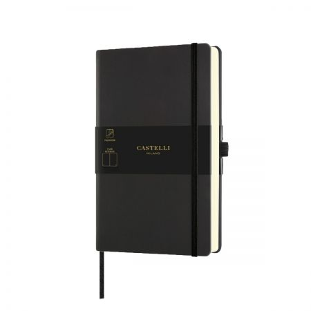 NEW Aquarela Medium Plain Notebook - Black Sepia