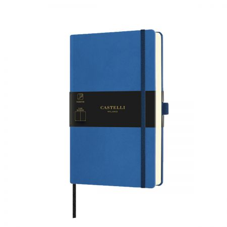 NEW Aquarela Medium Plain Notebook - Blue Sea