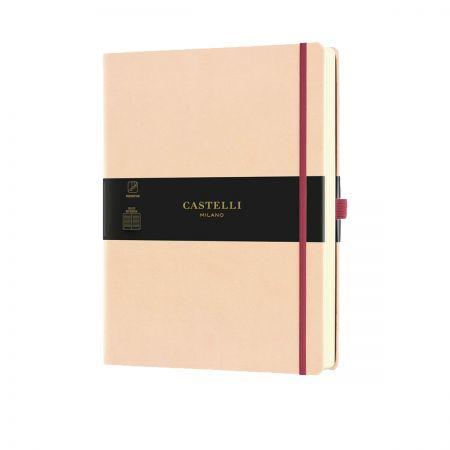 NEW Aquarela Large Ruled Notebook - Seashell