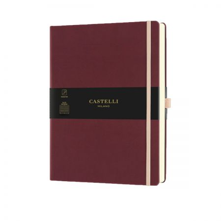 NEW Aquarela Large Ruled Notebook - Black Cherry