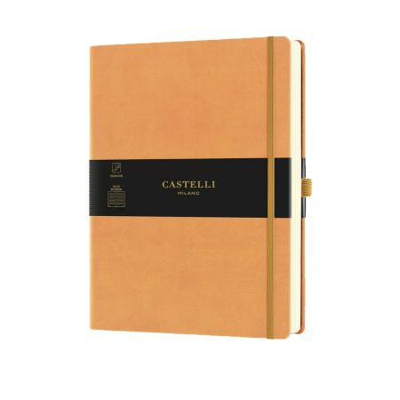 NEW Aquarela Large Ruled Notebook - Clementine