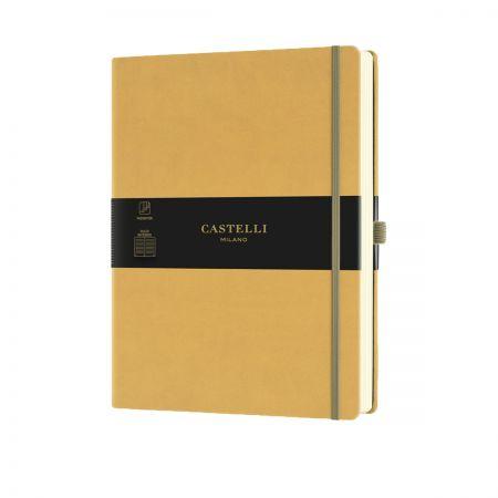 NEW Aquarela Large Ruled Notebook - Mustard