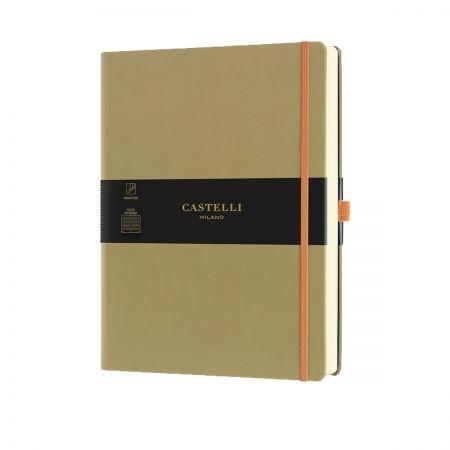 NEW Aquarela Large Ruled Notebook - Olive