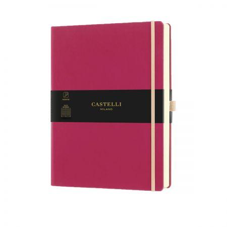 NEW Aquarela Large Ruled Notebook - Amaranth