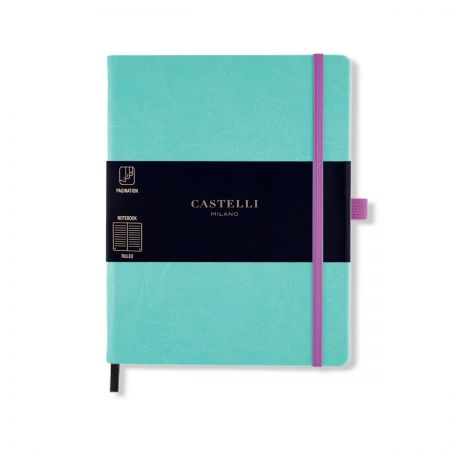 NEW Aquarela Large Ruled Notebook - Jade Green