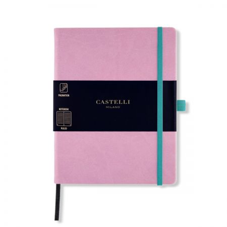 NEW Aquarela Large Ruled Notebook - Mallow