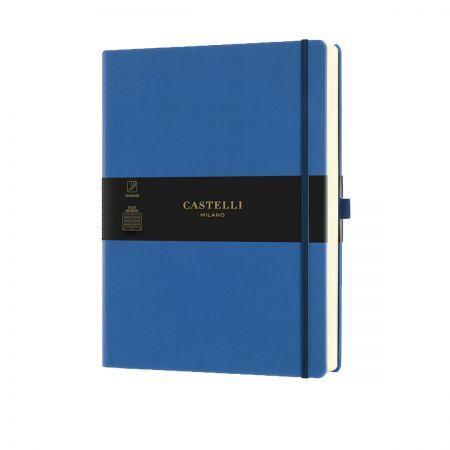 NEW Aquarela Large Ruled Notebook - Blue Sea