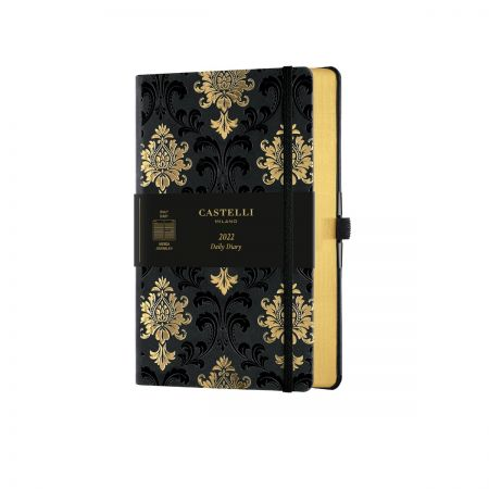 NEW Black & Gold 2022 Medium Daily Diary - Baroque