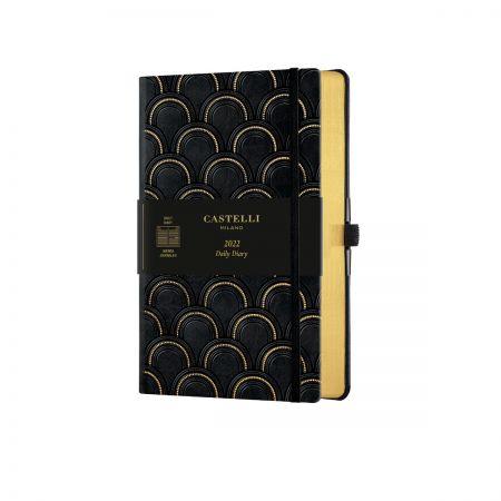NEW Black & Gold 2022 Medium Daily Diary - Art Deco