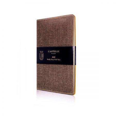 Harris Medium Flexible Diary - Tobacco Brown