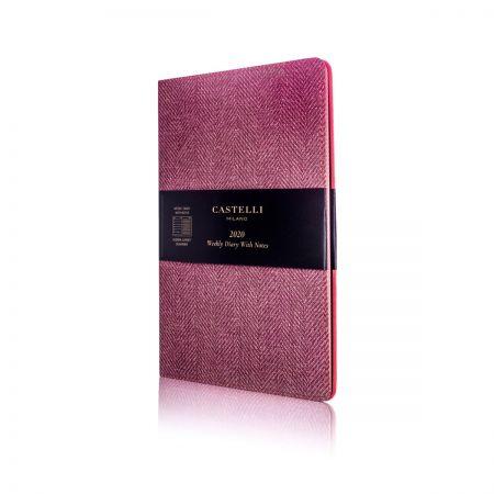 Harris Medium Flexible Diary - Maple Red