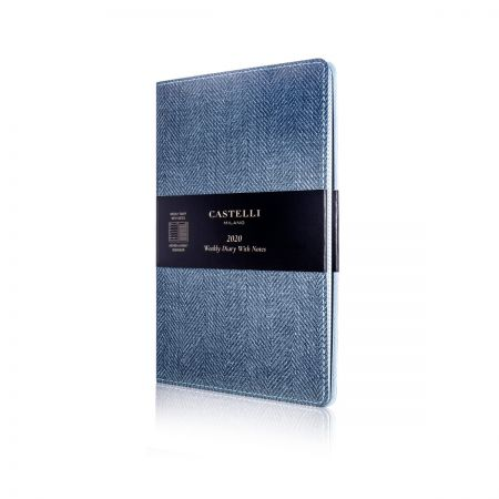 Harris Medium Flexible Diary - Slate Blue