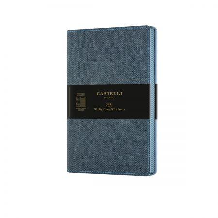 Harris 2021 Medium Flexible Weekly Diary - Slate Blue