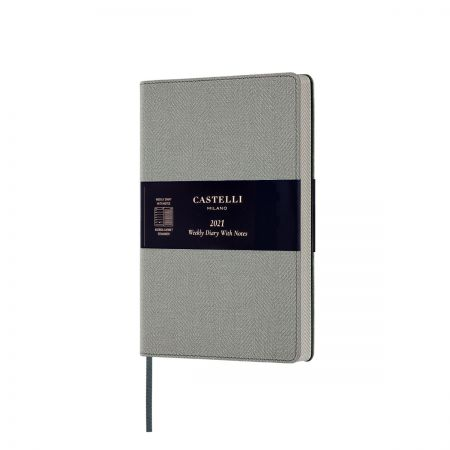 NEW Harris Medium 2021 Diary - Oyster Grey