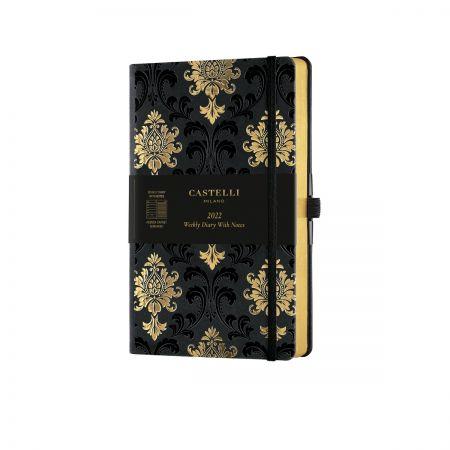 Black & Gold 2022 Medium Weekly Diary - Baroque
