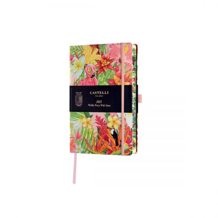 NEW Eden 2021 Pocket Diary  - Flamingo