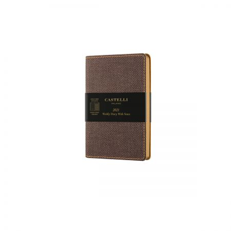 Harris 2021 Pocket Flexible Weekly Diary - Tobacco Brown