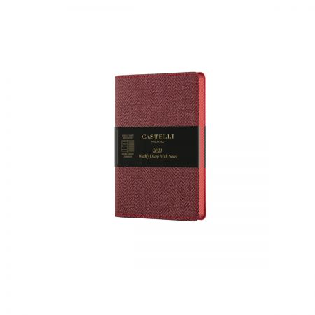 Harris 2021 Pocket Flexible Weekly Diary - Maple Red