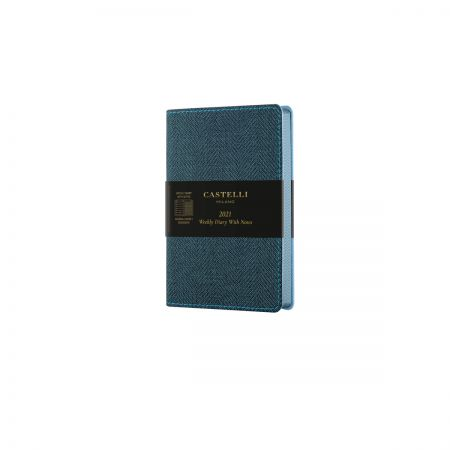 Harris 2021 Pocket Flexible Weekly Diary - Slate Blue