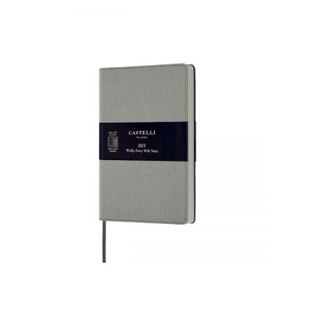 NEW Harris 2021 Pocket Diary - Oyster Grey