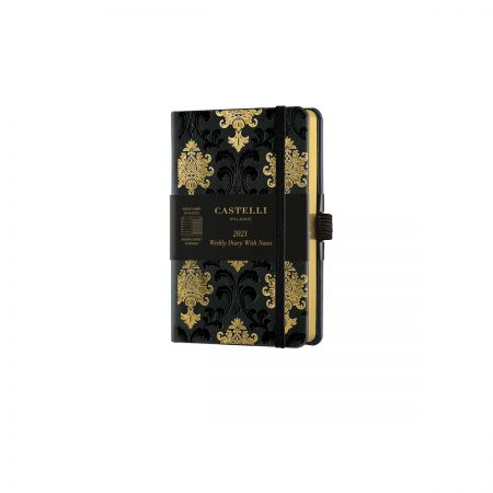 Black & Gold 2021 Pocket Weekly Diary - Baroque