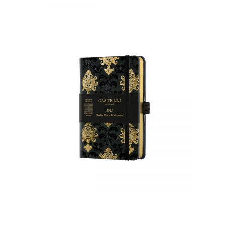 Black & Gold 2022 Pocket Weekly Diary - Baroque