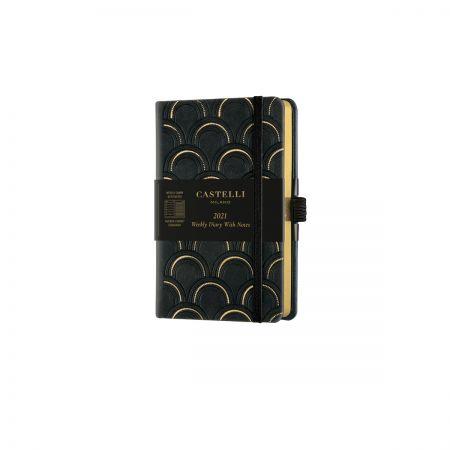 Black & Gold 2021 Pocket Weekly Diary - Art Deco
