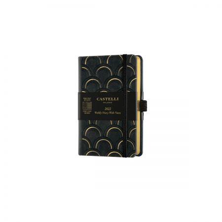 Black & Gold 2022 Pocket Weekly Diary - Art Deco