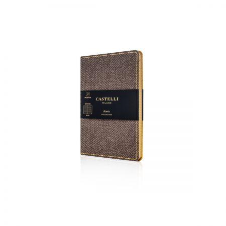 Harris Pocket Ruled Flexible Notebook - Tobacco Brown