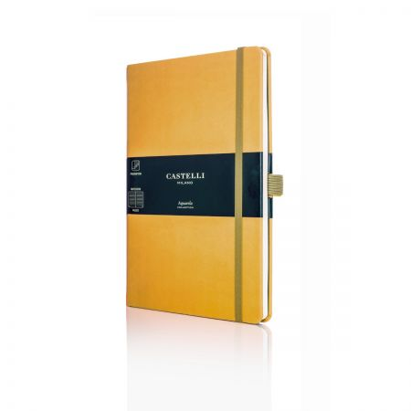 Aquarela Medium Ruled Notebook - Mustard