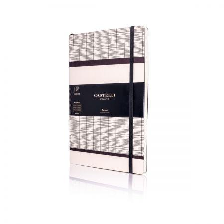 Tatami Medium Ruled Notebook - White Milk