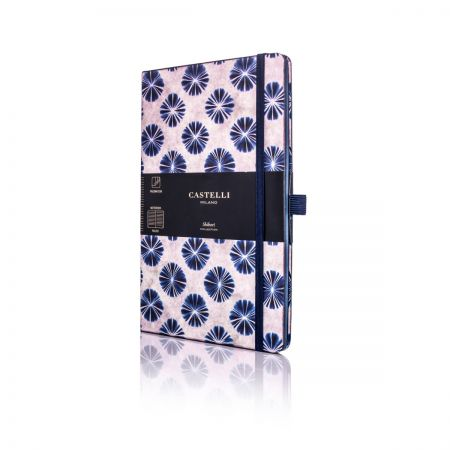 Shibori Medium Ruled Notebook - Flowers