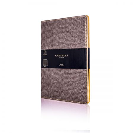 Harris Medium Ruled Flexible Notebook - Tobacco Brown
