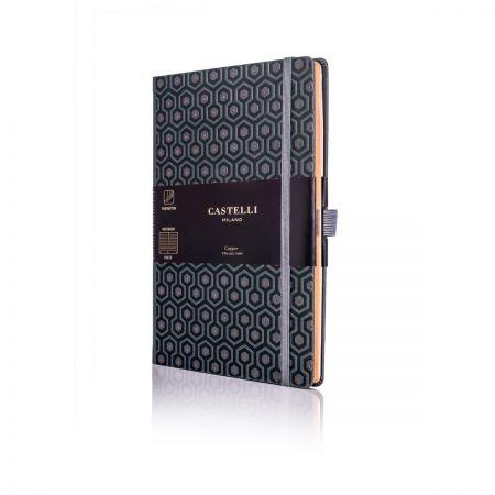 Honeycomb Copper Medium Ruled Notebook